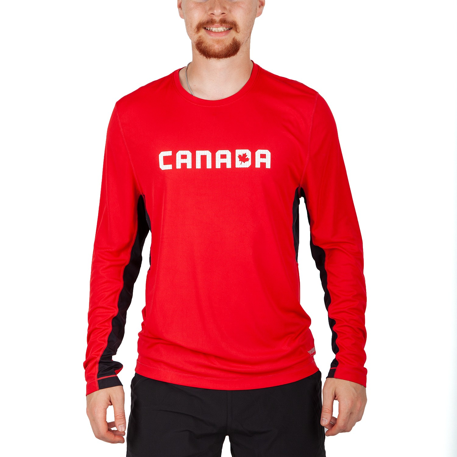 Running Room Men's Canada Color Block Long Sleeve Run Top