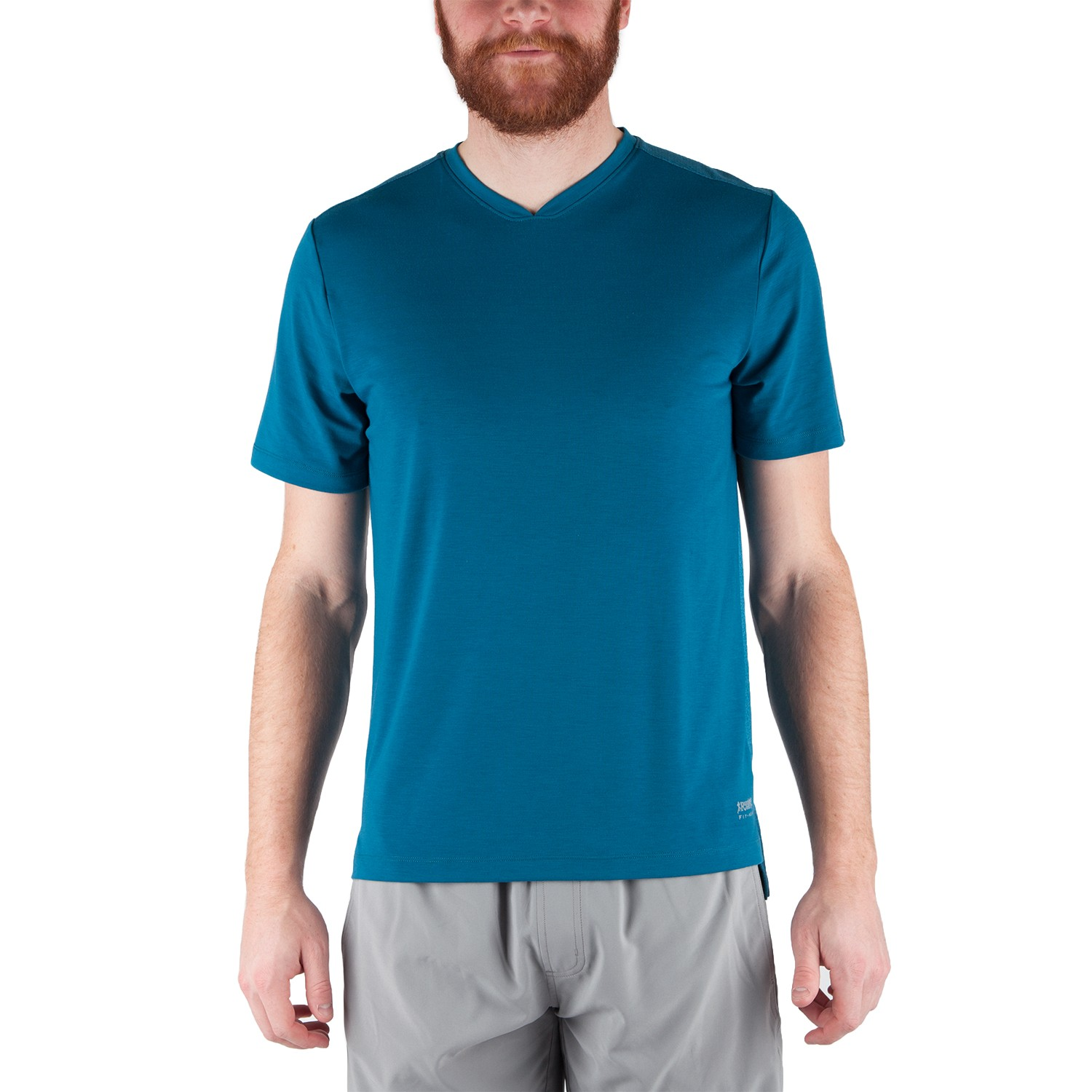 Running Room Men's Slub Jersey V Neck Tee