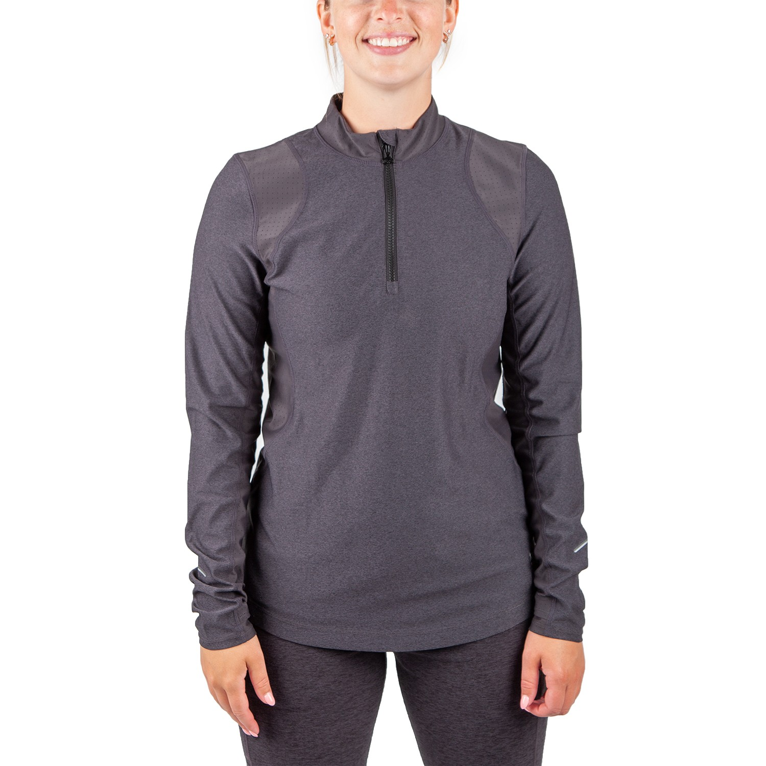 Running Room Women's Performance Front Zip Run Shirt