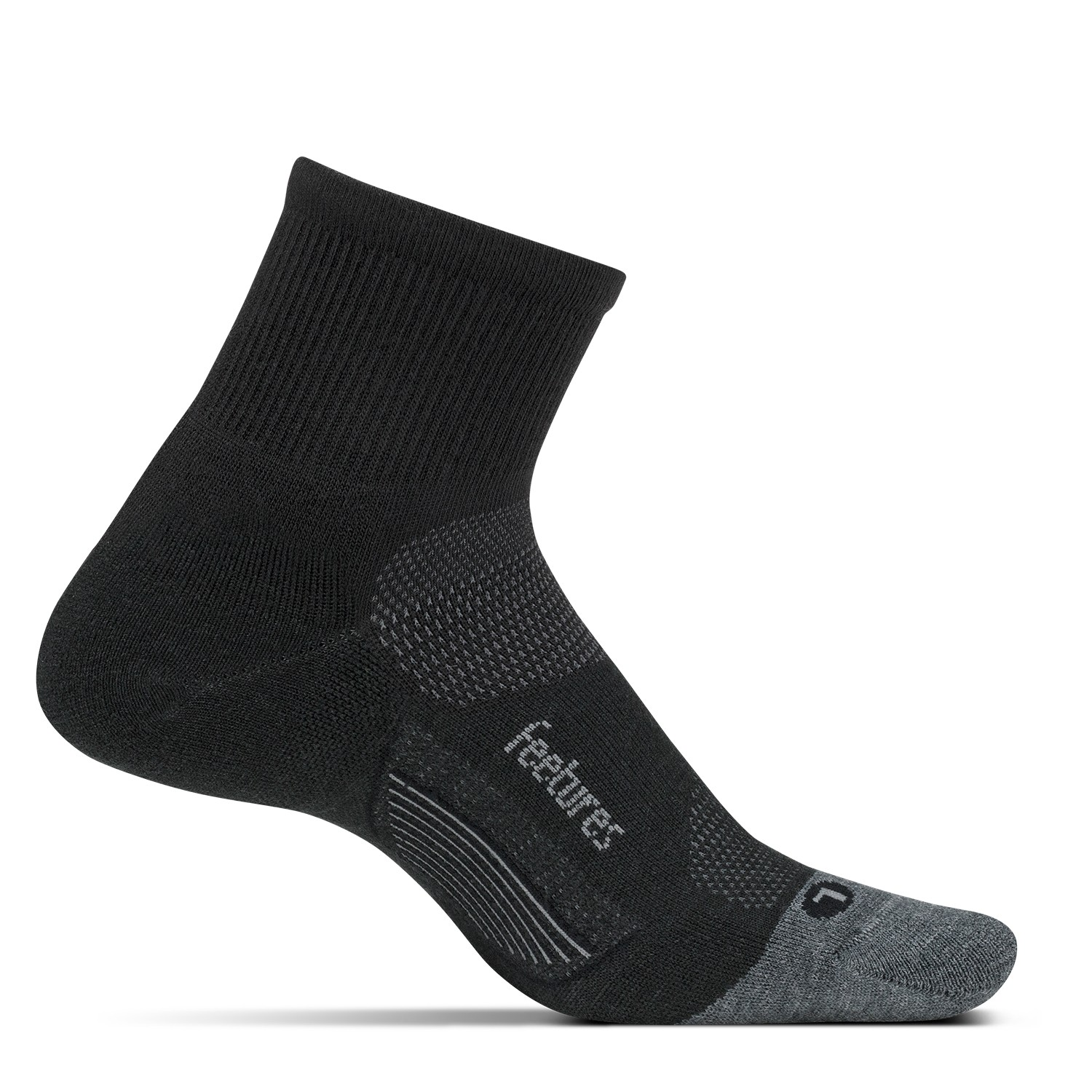 Feetures Unisex Merino 10 Ultra Light Qtr Sock